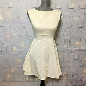 French connection cream dress size 2